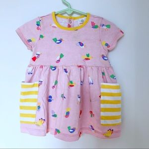 Hanna Andersson pink baby birds play dress